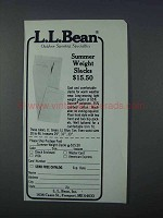 1981 L.L. Bean Summer Weight Slacks Ad