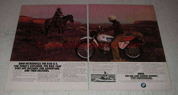 1981 BMW R 80 G/S Motorcycle Ad - Today's Explorer