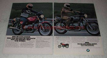 1981 BMW R65 and R100 Motorcycles Ad - Extra Margin