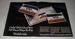 1981 VISA Credit Cards Ad - All These Ways To Pay