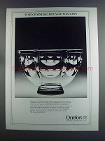 1982 Orrefors Tusen Fonster / Thousand Windows Bowl Ad