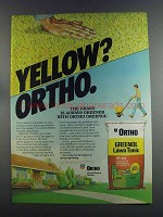 1982 Ortho Greenol Lawn Tonic Ad - Yellow?