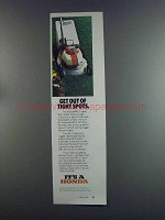 1982 Honda HR-17 Rotary Lawn Mower Ad - Tight Spots