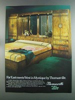 1982 Thomasville Mystique Bedroom Set Ad - Far East