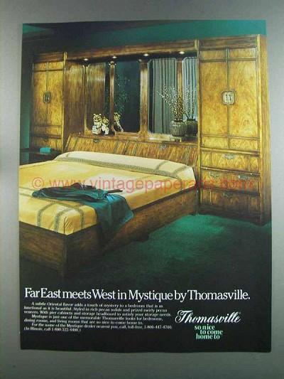 1982 Thomasville Mystique Bedroom Set Ad Far East