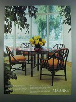 1982 McGuire Advertisement - Table and Chairs