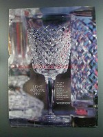 1982 Waterford Crystal Ad - Light a Crystal Fire