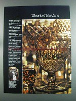 1982 Waterford Crystal Goblet Ad - A La Carte