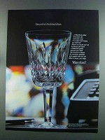 1982 Waterford Crystal Goblet Ad - Drinking Glass