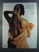 1982 Utica Luxury Towel Ad - Your Skin Indulgence