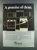 1982 Whirlpool Appliances Ad - A Promise of Clean
