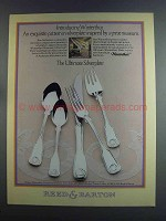 1982 Reed & Barton Winterthur Silverplate Ad