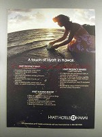 1982 Hyatt Hotels Hawaii Ad - A Touch of Hyatt