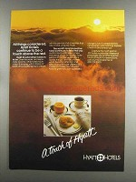 1982 Hyatt Hotels Ad - All Things Considered