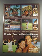1982 Sheraton Hotels Ad - Taste the Difference