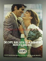 1982 Scope Mouthwash Ad - Breath is Minty-Fresh