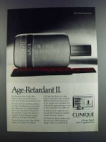 1982 Clinique Oil-Free Sun Block Ad - Age-Retardant II