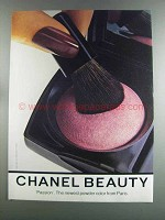 1982 Chanel Passion Powder Ad - Beauty