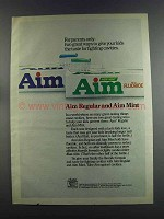 1982 Aim Toothpaste Ad - For Parents Only