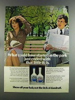 1982 Head & Shoulders Shampoo Ad - Started in the Park