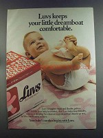 1982 Luvs Diapers Ad - Keeps Dreamboat Comfortable