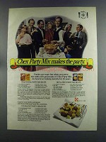 1982 Ralston Chex Cereal Ad - Chex Mix Makes the Party