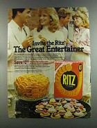 1982 Nabisco Ritz Crackers Ad - The Great Entertainer