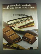 1982 Hershey's Golden Almond Chocolate Bar Ad