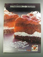 1982 Sara Lee Black Forest Cake Ad - Your Fantasy?