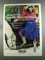 1982 Acme Boots Ad - Acme Women Got World by the Reins