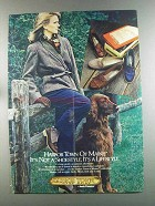 1982 Hush Puppies Harbor Town of Maine Shoes Ad - Mimi
