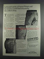 1982 Lands' End Corduroy Pants Ad - Cord du Roi