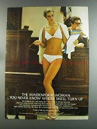 1982 Maidenform Pretty Me Front-Close Bra and Bikini Ad