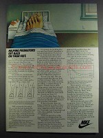 1982 Nike Shoes Ad - Helping Pronators Get Back on Feet