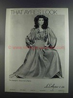 1982 L.S. Ayres & Co. Oscar de la Renta Fashion Ad