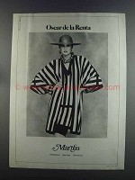 1982 Martha Oscar de la Renta Fashion Ad