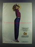 1982 Ms Lee London Rider Jeans Ad - Changing of Guard