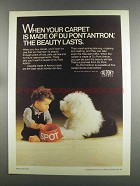1982 Du Pont Antron Carpet Ad - The Beauty Lasts