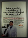 1982 Dow Chemicals Ad - How it Affect Human System