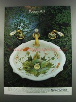 1982 Sherle Wagner Sink and Faucets Ad - Poppy Art