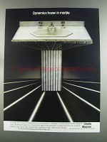 1982 Sherle Wagner Sink and Faucets Ad - Dynamics