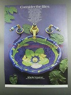 1982 Sherle Wagner Sink and Faucets Ad - The Lilies