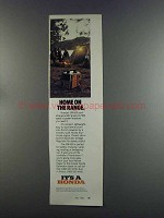 1982 Honda EM-500 Portable Generator Ad - Home on Range