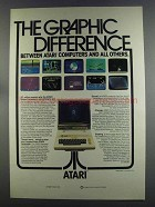 1982 Atari Computers Ad - The Graphic Difference