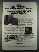 1982 Harris Super minicomputers, data terminals, PBX ad