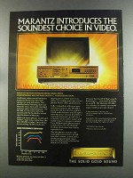 1982 Marantz Beta VR-200 VCR Ad - Soundest Choice