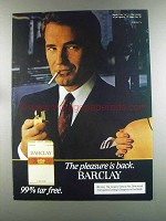 1982 Barclay Cigarettes Advertisement