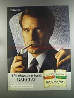 1982 Barclay Cigarettes Advertisement - 99% Tar Free