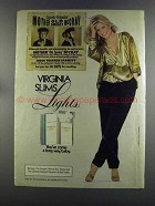 1982 Virginia Slims Lights Cigarettes Ad - Old McCray