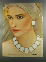 1982 Monet Contempora Collection Necklace & Earrings Ad